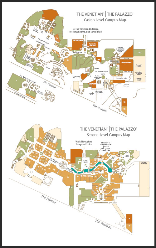 Palazzo and Venetian Map