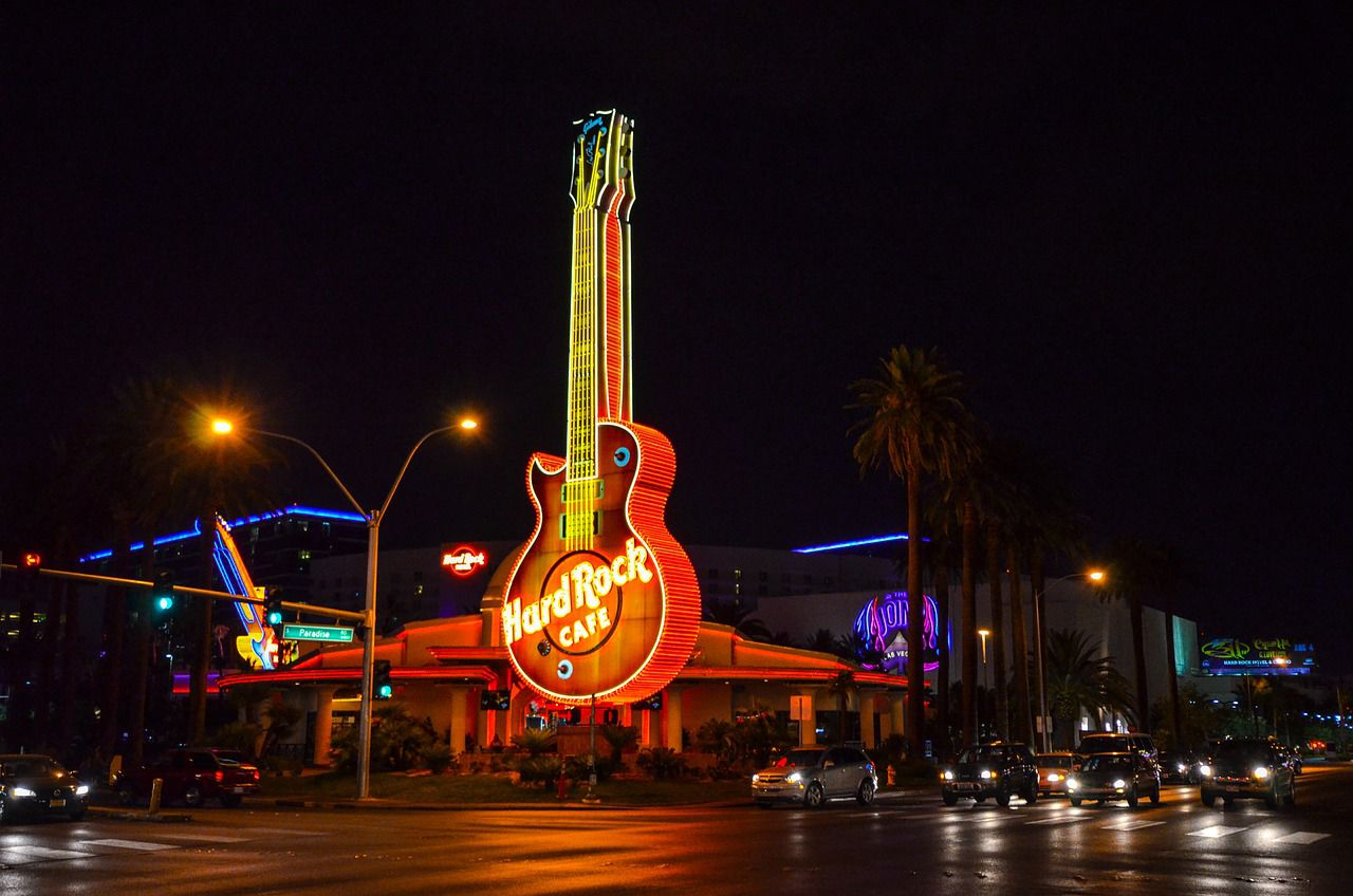 The hard rock hotel in Vegas