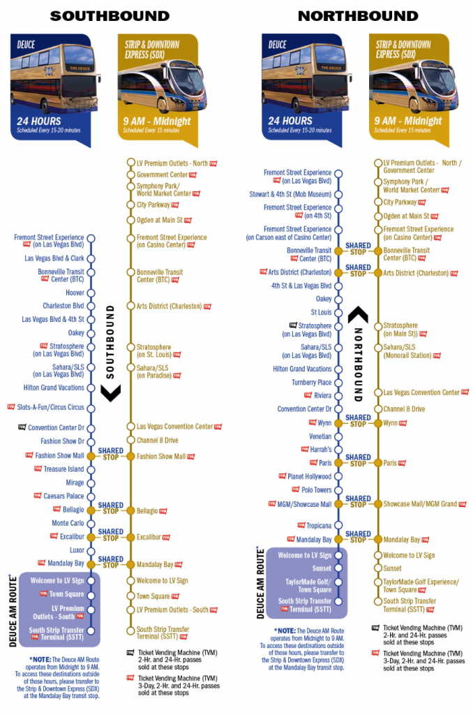 Vegas Deuce Bus Route Map