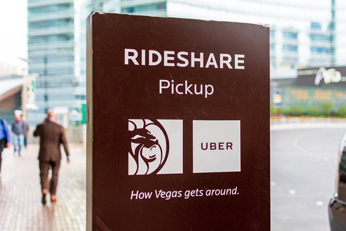 Rideshare lyft and Uber in Vegas