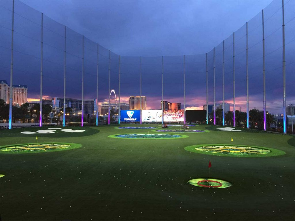 Top Golf is one of the hottest venues during March Madness.