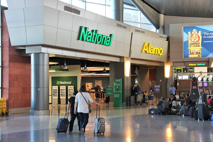 Las Vegas rental cars at the airport