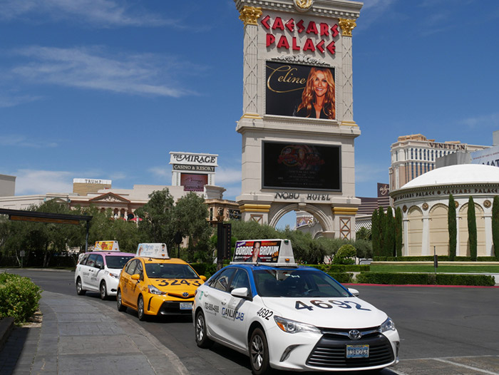 Taxi transportation from the airport Vegas