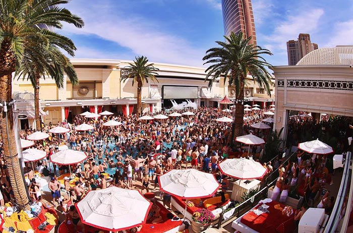 Encore Beach Club Vegas Bachelorette pool party