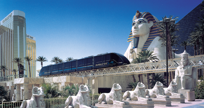 The monorail to and from Mandalay Bay.