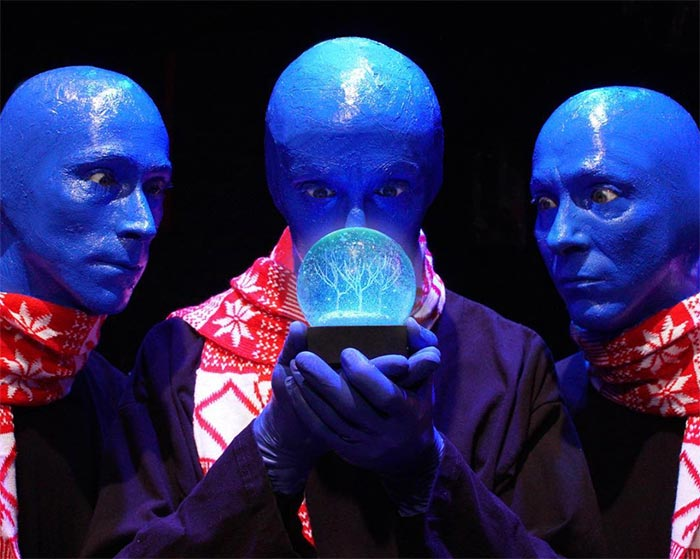 Blue Man Group in Las Vegas.