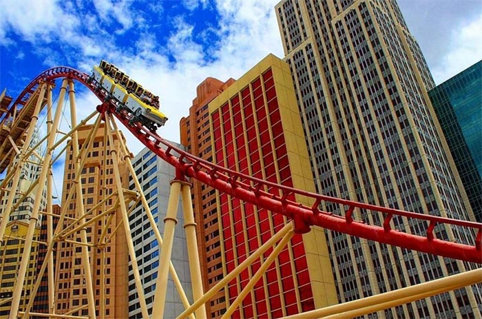 For the ultimate thrill, check out the New York New York Hotel and Casino.