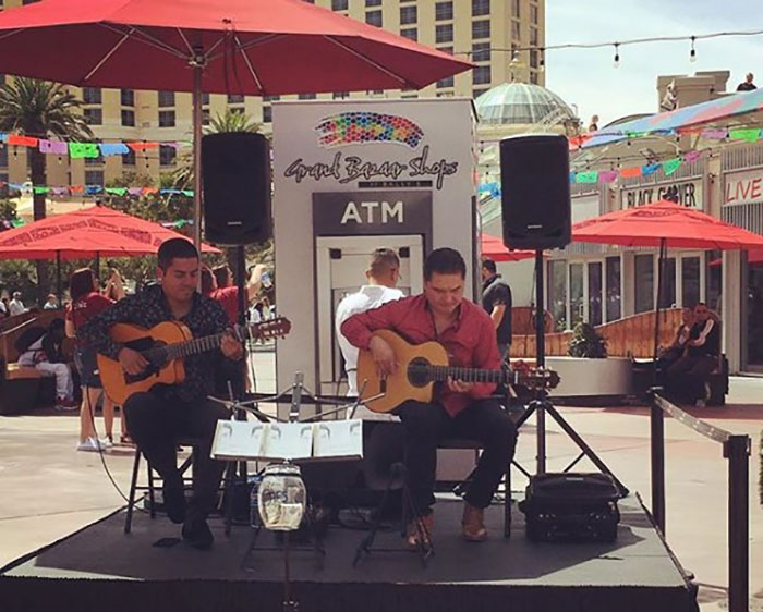 Street performers abound at the Grand Bazaar Shops.