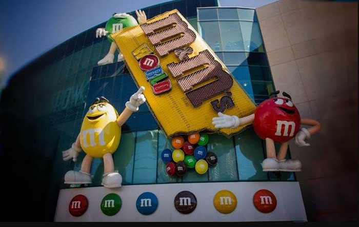 M&M World Store on the Vegas Strip