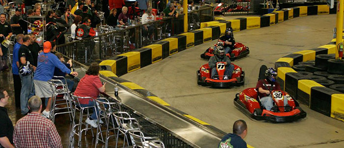 Pole Position Raceway indoor go kart racing track.