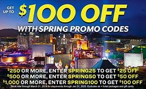 Vegas.com $25 off Promo Code