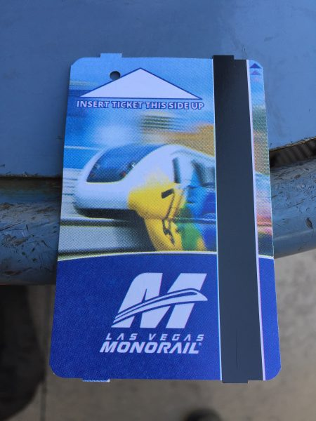 Monorail passes for Las Vegas monorail