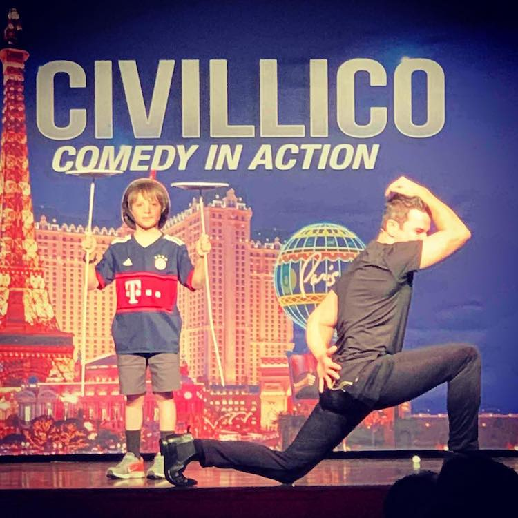 Jeff Civillico Performs Comedy in Action.