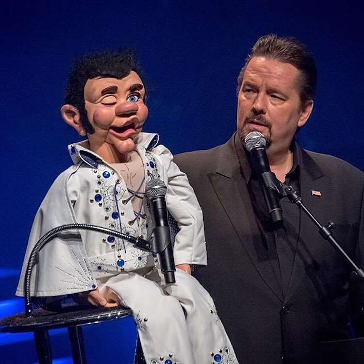 Terry Fator during a performance.