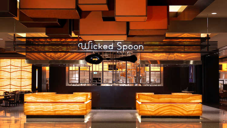 The entrance into the Wicked Spoon dining room