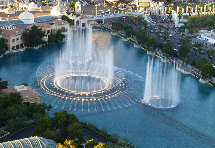 Bellagio fountains show times hours and schedule