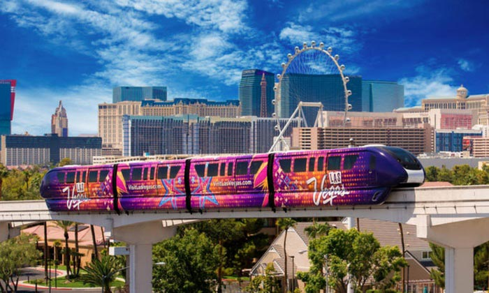 Las Vegas monorail strop prices and map