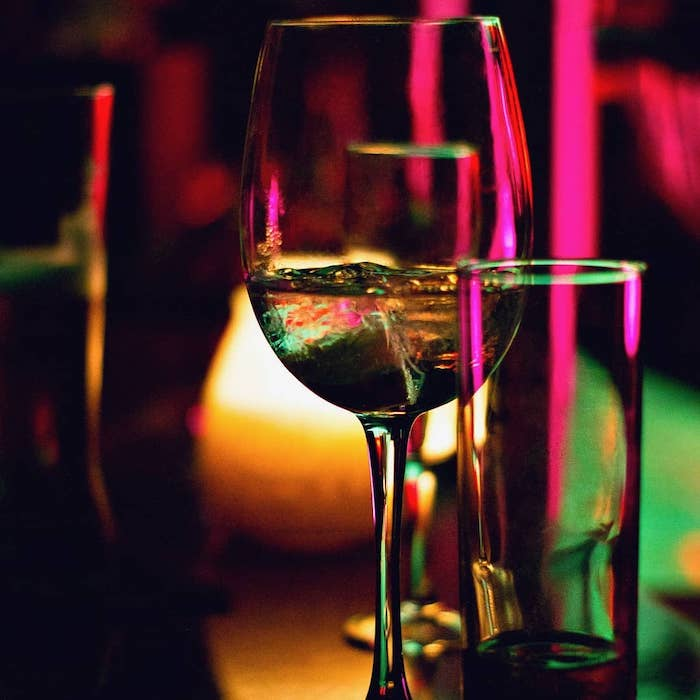 Dining in the Dark wineglass