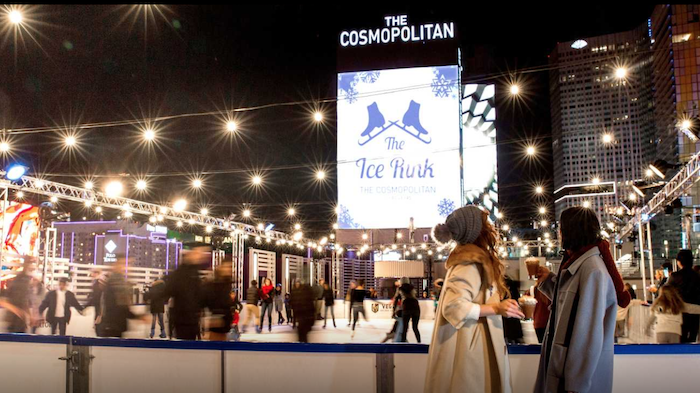 Ice skating at the Cosmopolitan.