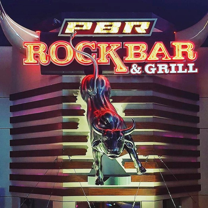 A view of the outside at PBR Rock Bar and Grill.