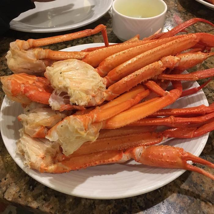 Crab legs are a stable of the MGM Grand Buffet.
