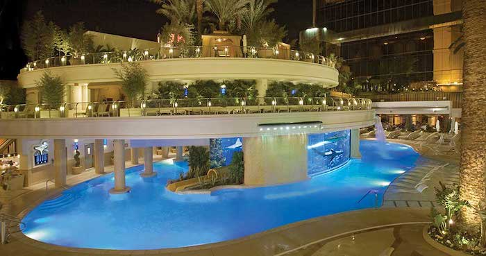 A look at the pool at the Golden Nugget.