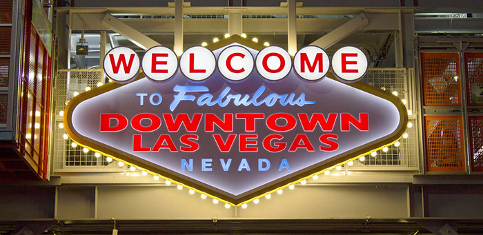welcome to downtown vegas sign