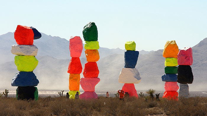 See 7 Magic Mountains in Vegas