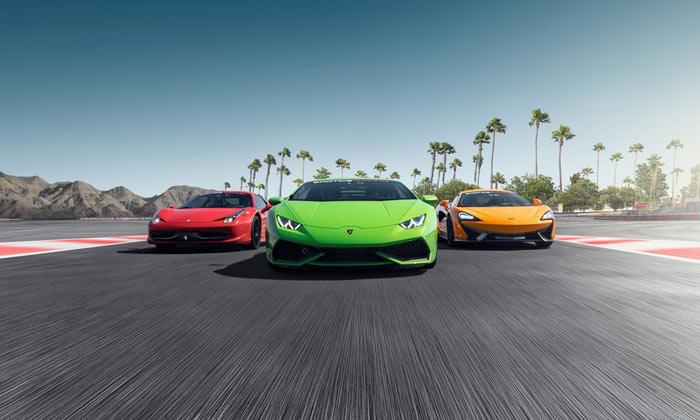 Exotics racing in Las Vegas attraction