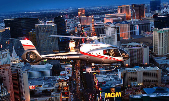 See Vegas from above on Maverick Helicopters