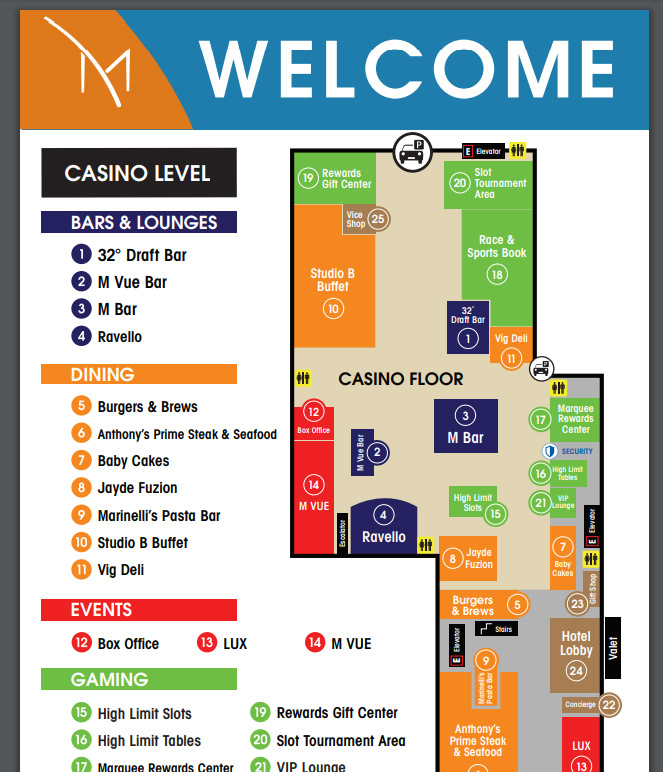 M Resort las vegas hotel map