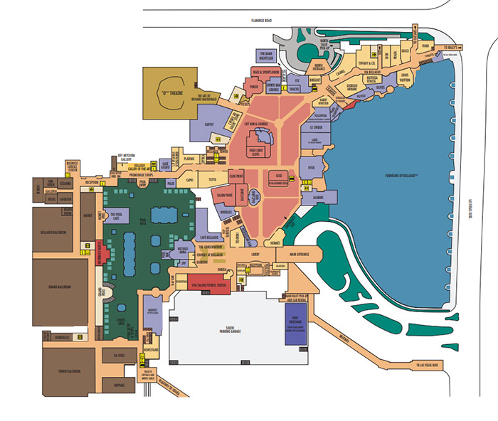 Vegas Bellagio Interior Map