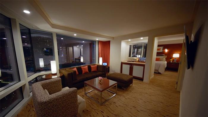 ARIA Tower Corner Room View
