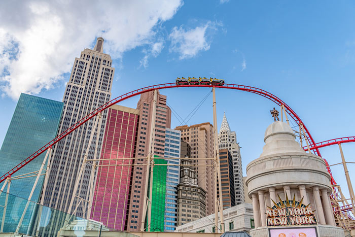 Big Apple Coaster thrill rides for kids in vegas