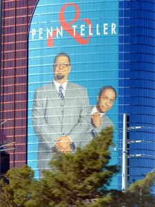 Peen and Teller magic show vegas