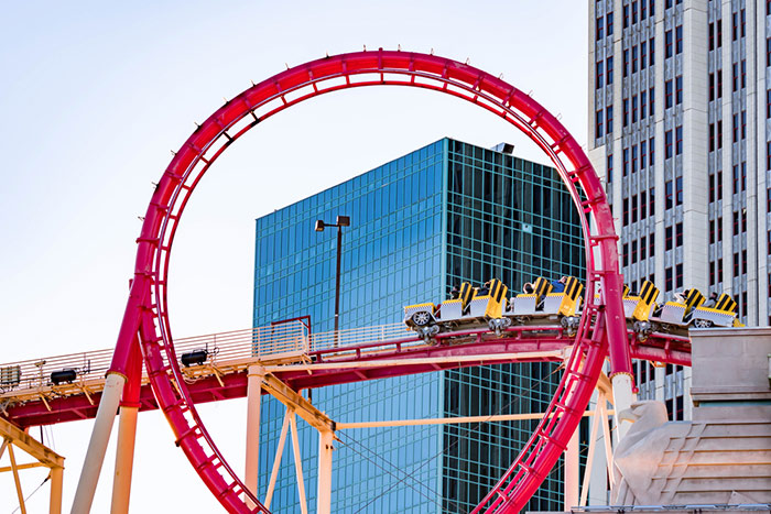thrill rides coaster in vegas