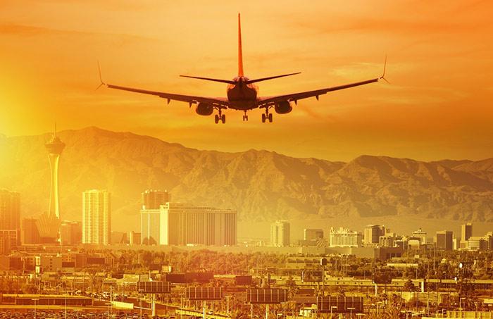 flying into Las Vegas