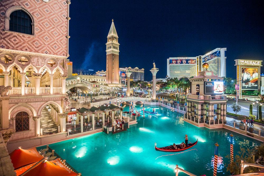 Gondola rides at Venetian in Vegas