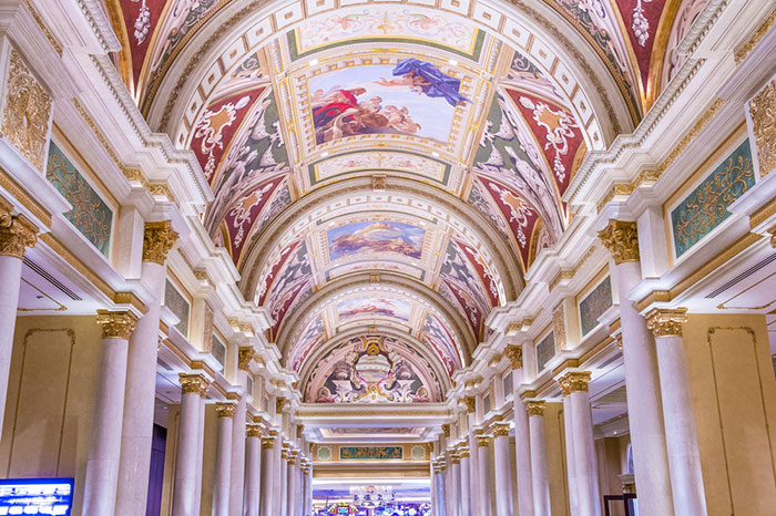 Interior lobby of the Venetian
