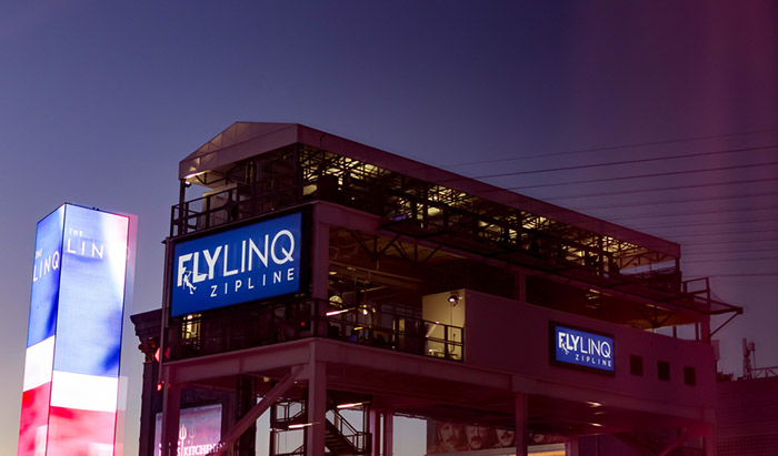 The FLY LINQ Zipline on the Vegas Strip