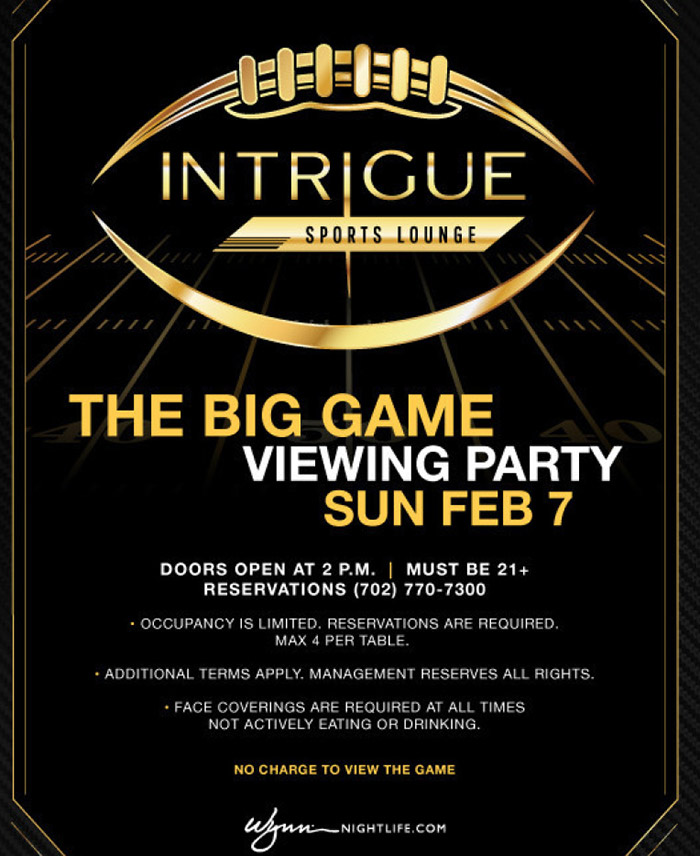 Intrigue Vegas Viewing Party for Super Bowl
