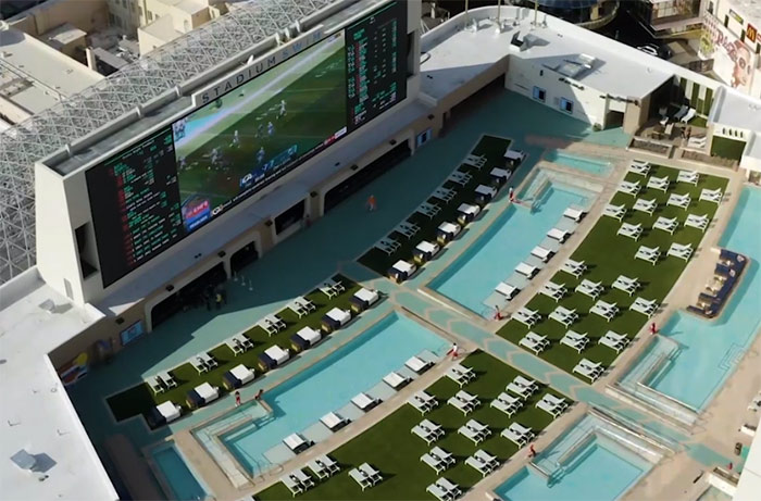 Stadium swim - great for a bachelor party in vegas