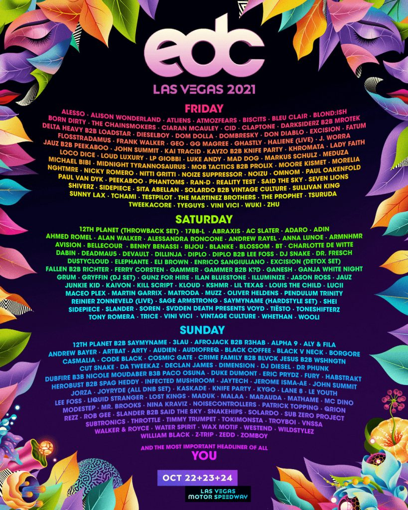 EDC Lineup 2021