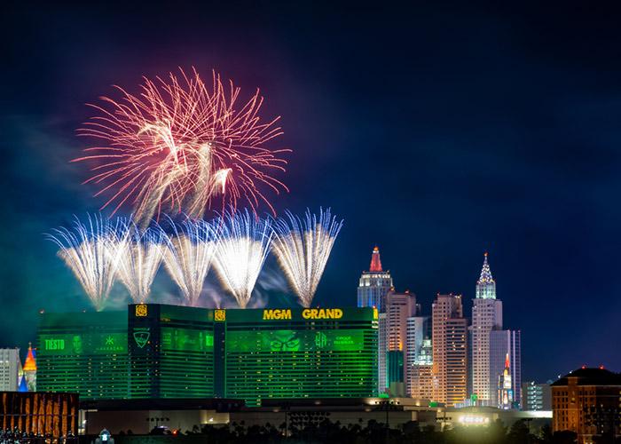 Las Vegas fireworks schedule