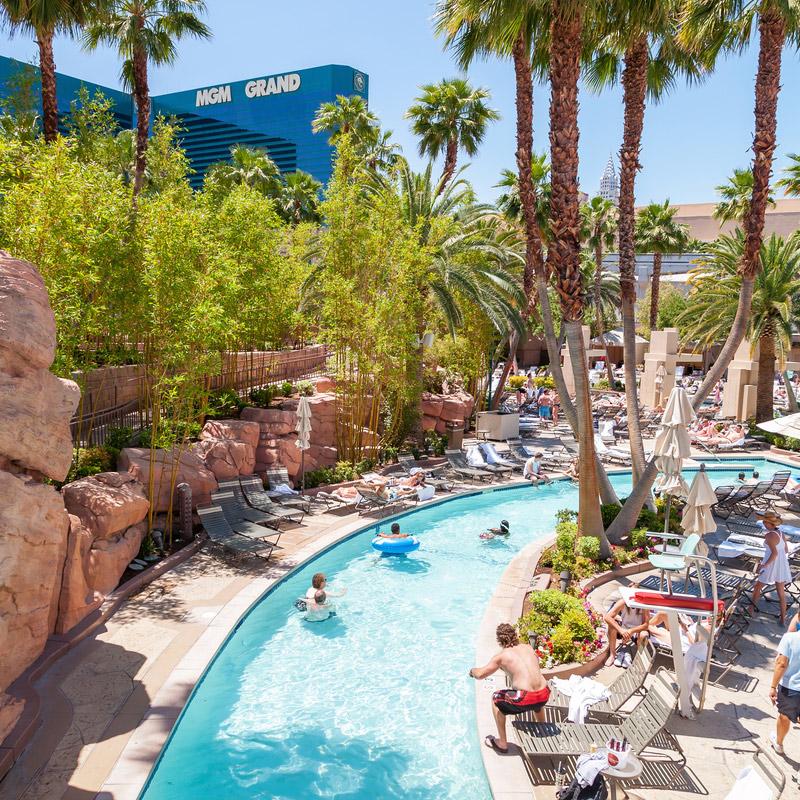 Lazy river pool at MGM Grand Vegas