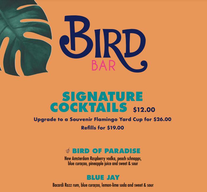 Bird Vegas cheap drinks on the strip in vegas